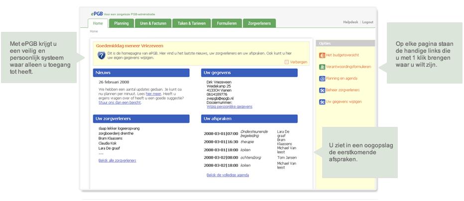 homepage van ePGB